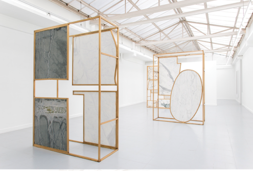 Sam Moyer, Slowly, installation view, Galerie Rodolphe Janssen, Brussels